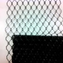 Black Honeycomb Hat Veiling